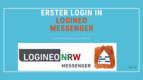 Erste Schritte Login Logineo Messenger NRW Hilfe