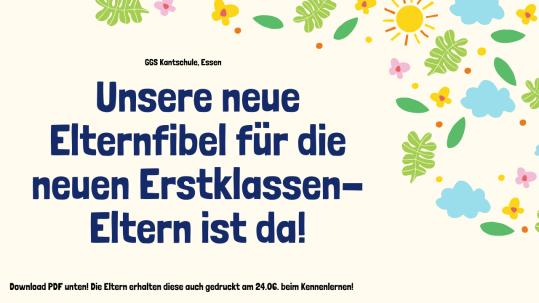 Elternfibel Einschulung Grundschule NRW Kantschule Essen